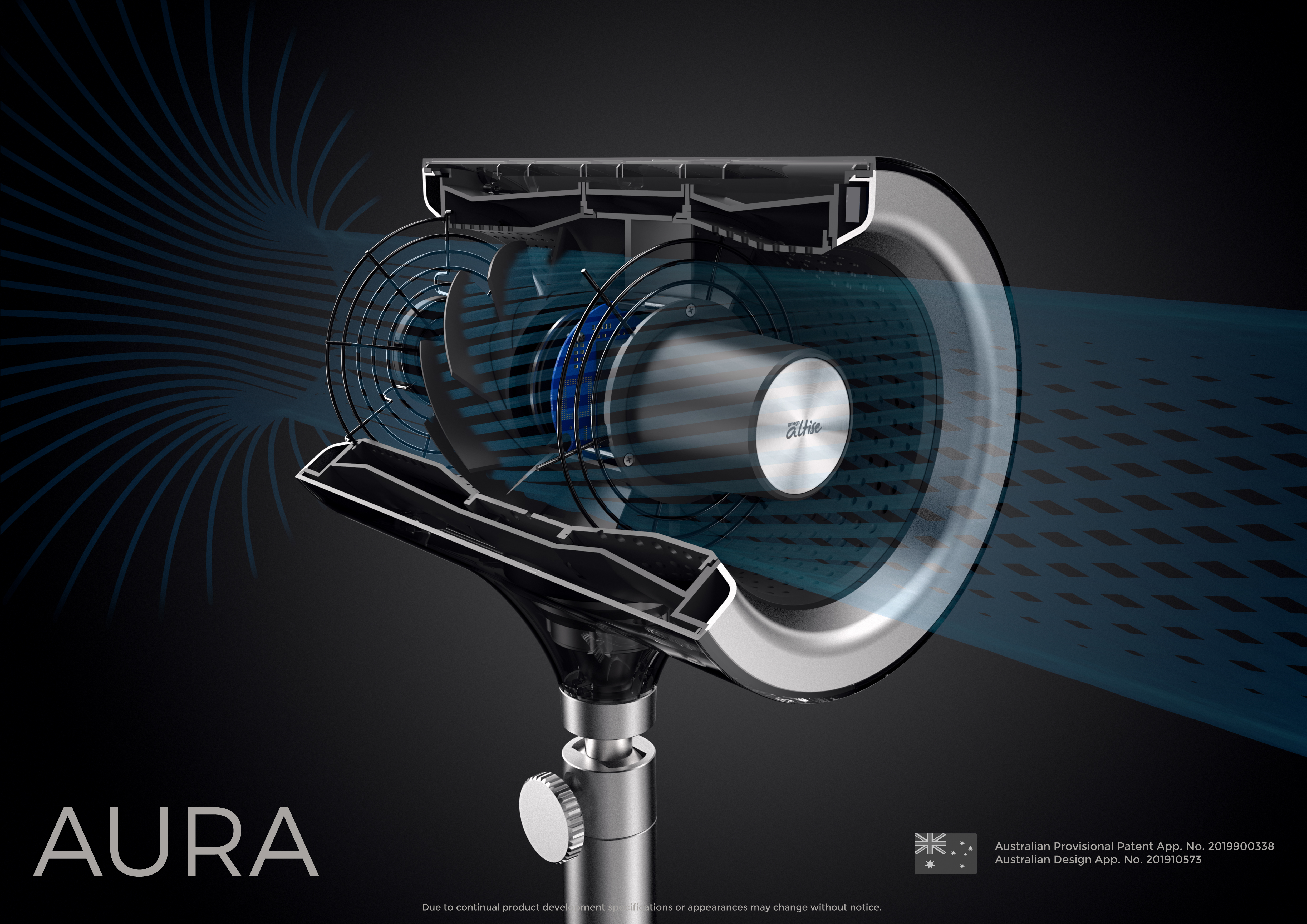 Omega Altise Product Aura Pedestal Fan 12.5cm - Blue(OP125B)