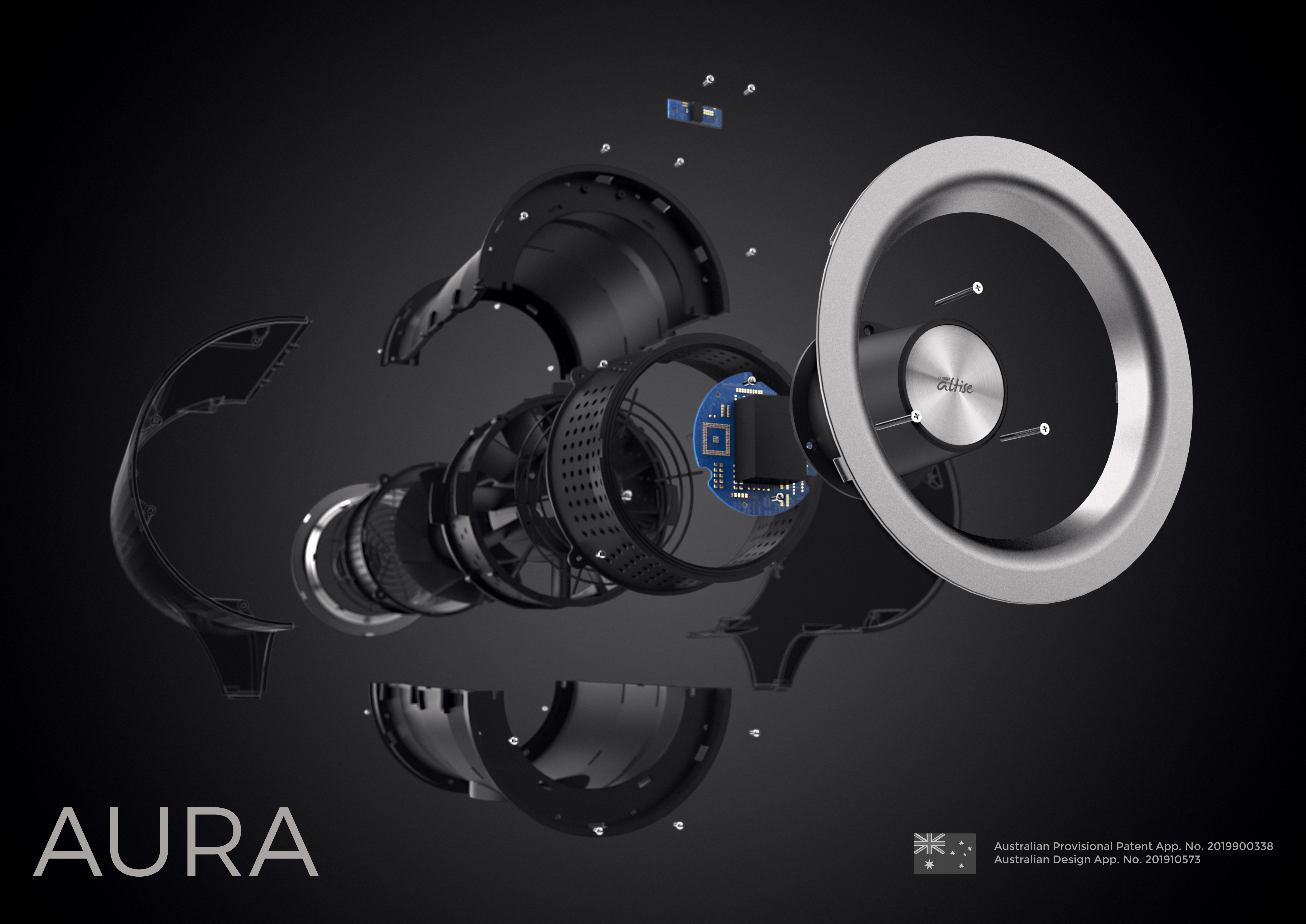 Omega Altise Product Aura Pedestal Fan 12.5cm - Mint(OP125M)
