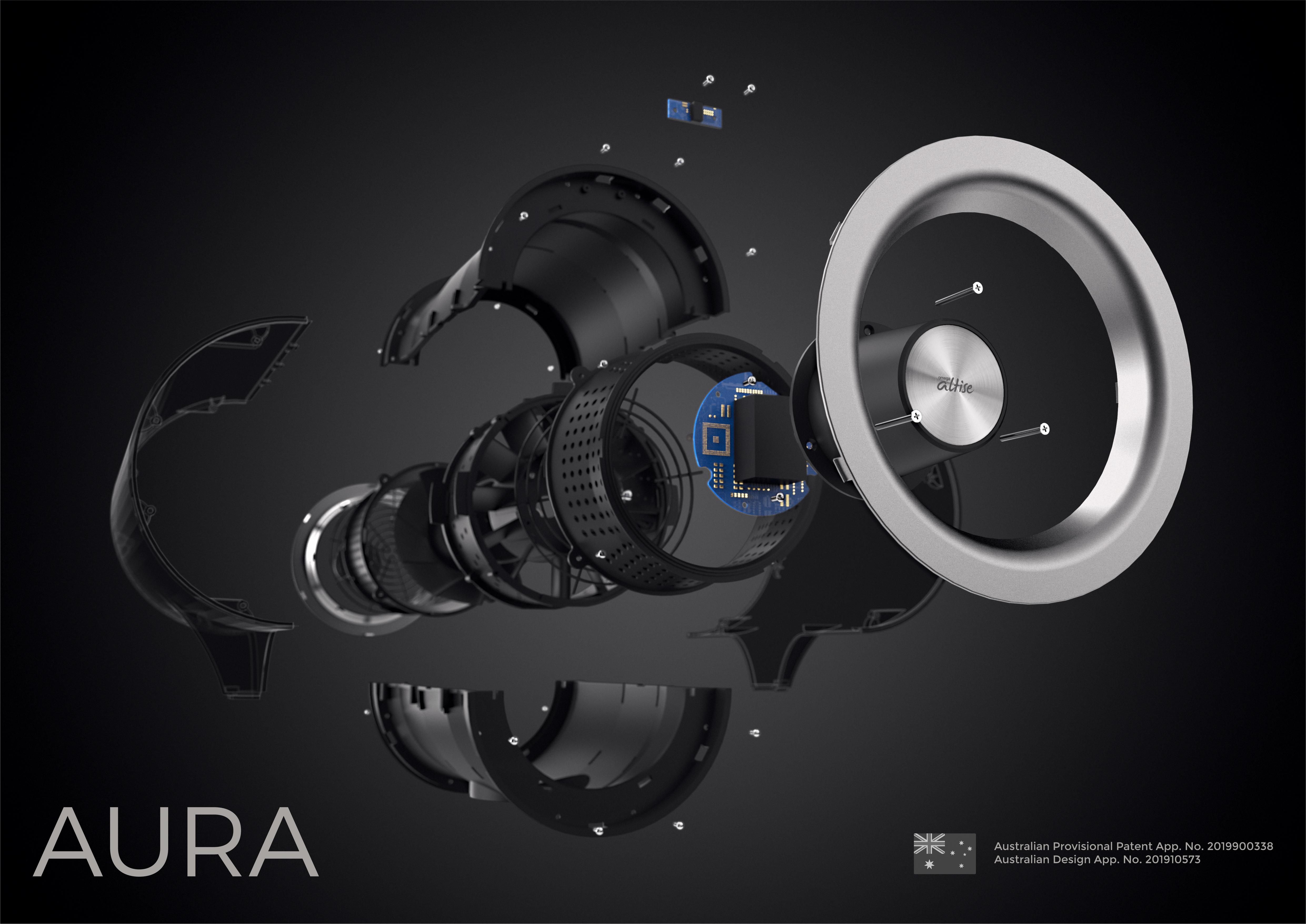 Omega Altise Product Aura Pedestal Fan 12.5cm - White(OP125W)