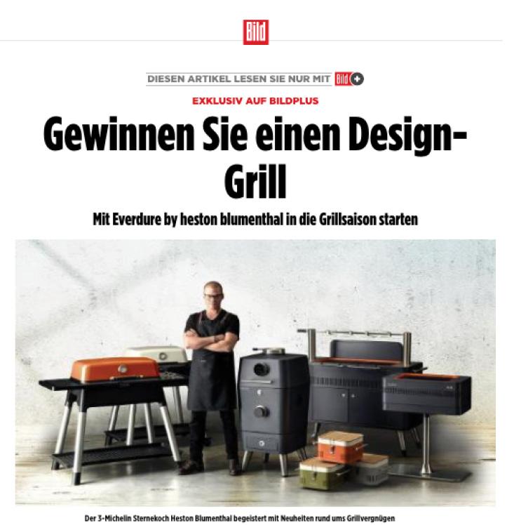 BILD: Gewinnen Sie einen Design-Grill