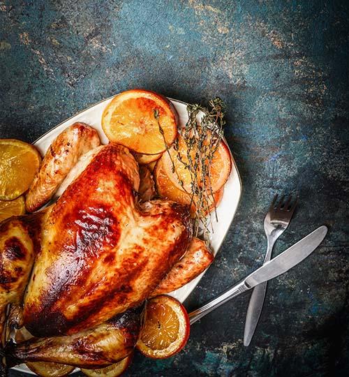 Jamaican turkey with chorizo stuffing on the FURNACE