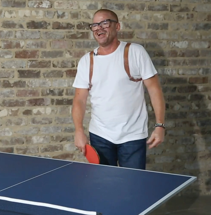 THE GOURMET TRAVELLER: Heston Blumenthal on ping pong, lychees and barbecuing