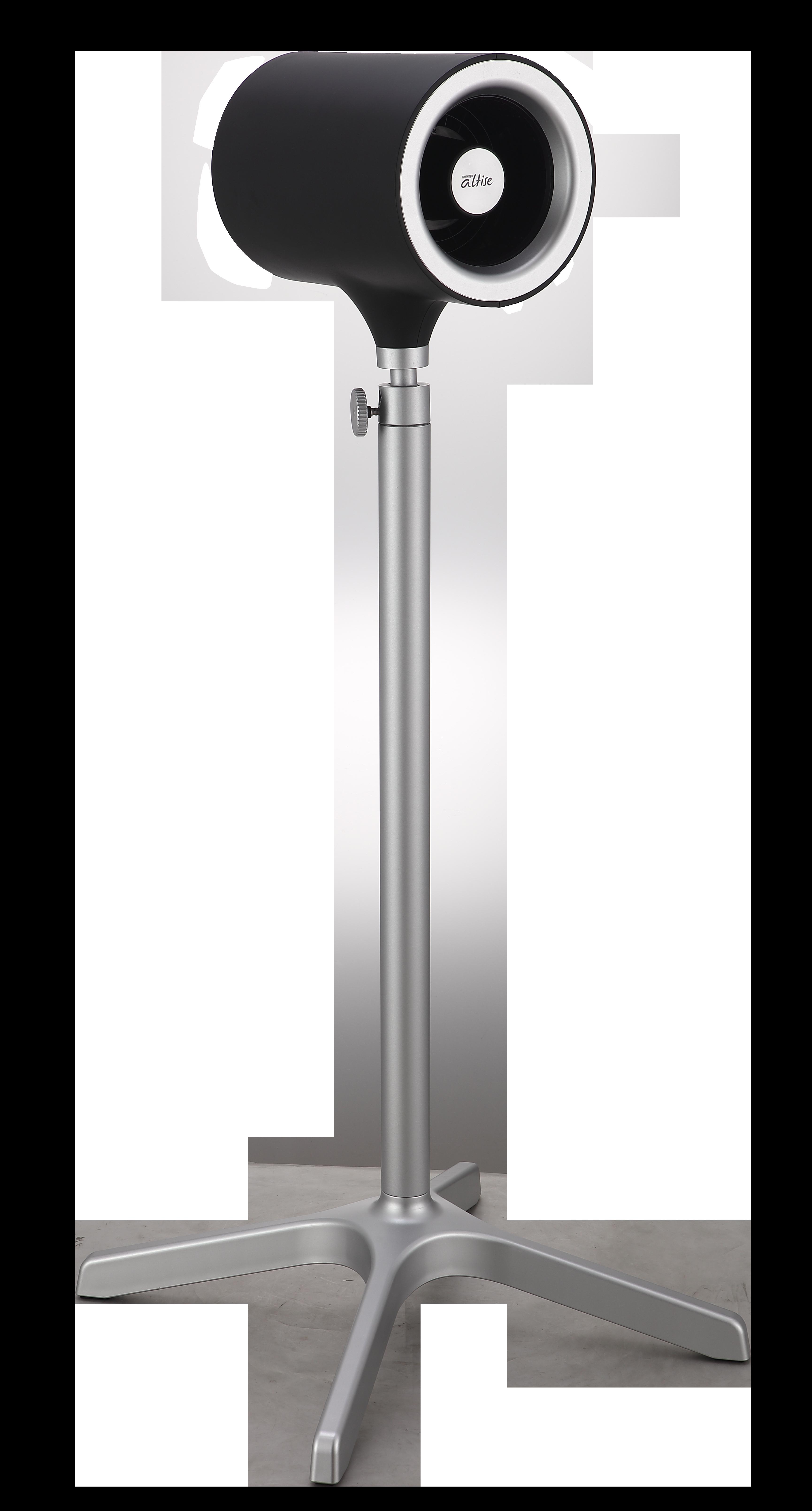 Omega Altise Product Aura Pedestal Fan 12.5cm - Black(OP125BLK)
