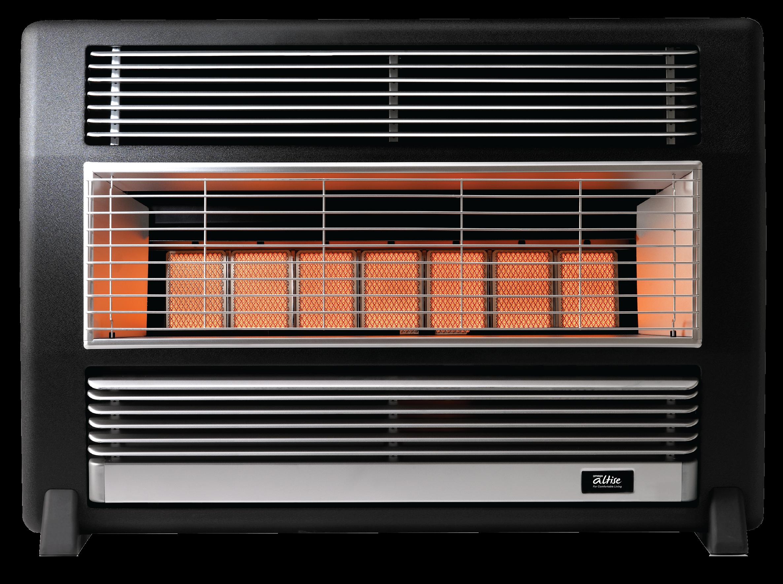Omega Altise product 'Brigadier' Portable Gas Heater25MJ/h Silver Streak