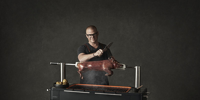 Wired.co.uk: Heston Blumenthal's hi-tech Everdure BBQs take outdoor dining to the next level