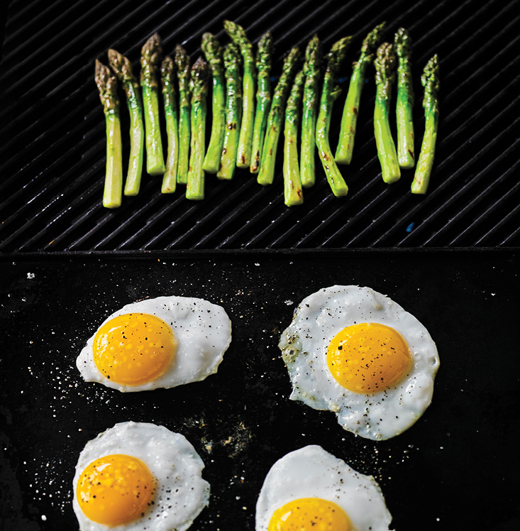 Grilled Asparagus with Fried Duck Eggs