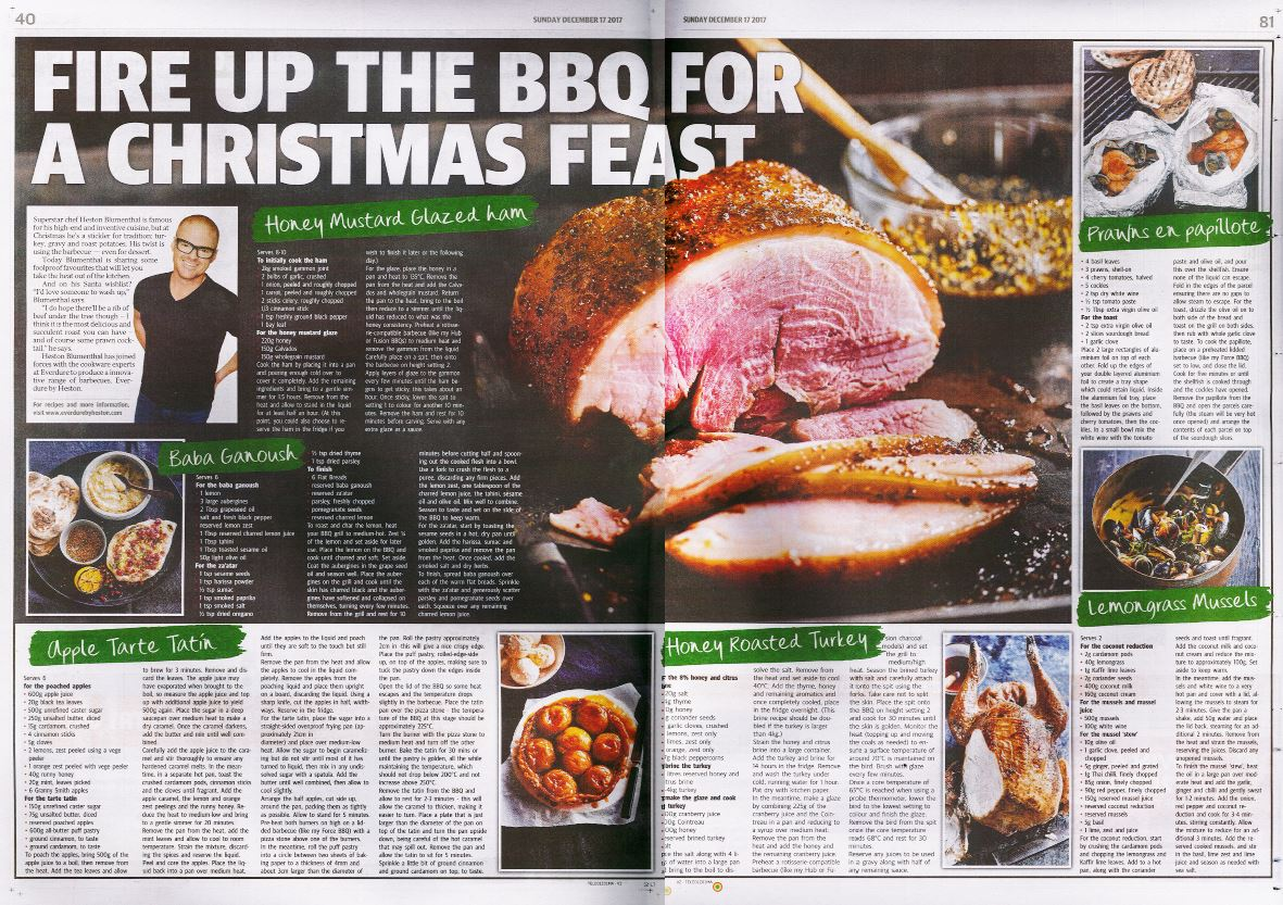 The Sunday Telegraph - BBQ Christmas Recipes