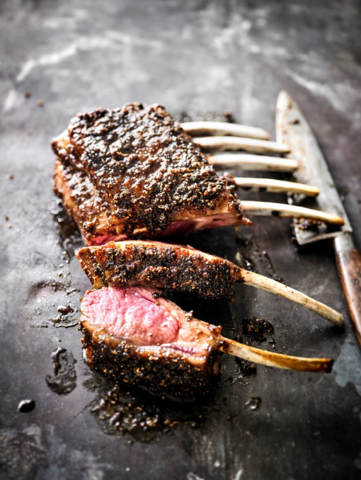 POMEGRANATE AND FENNEL RACK OF LAMB