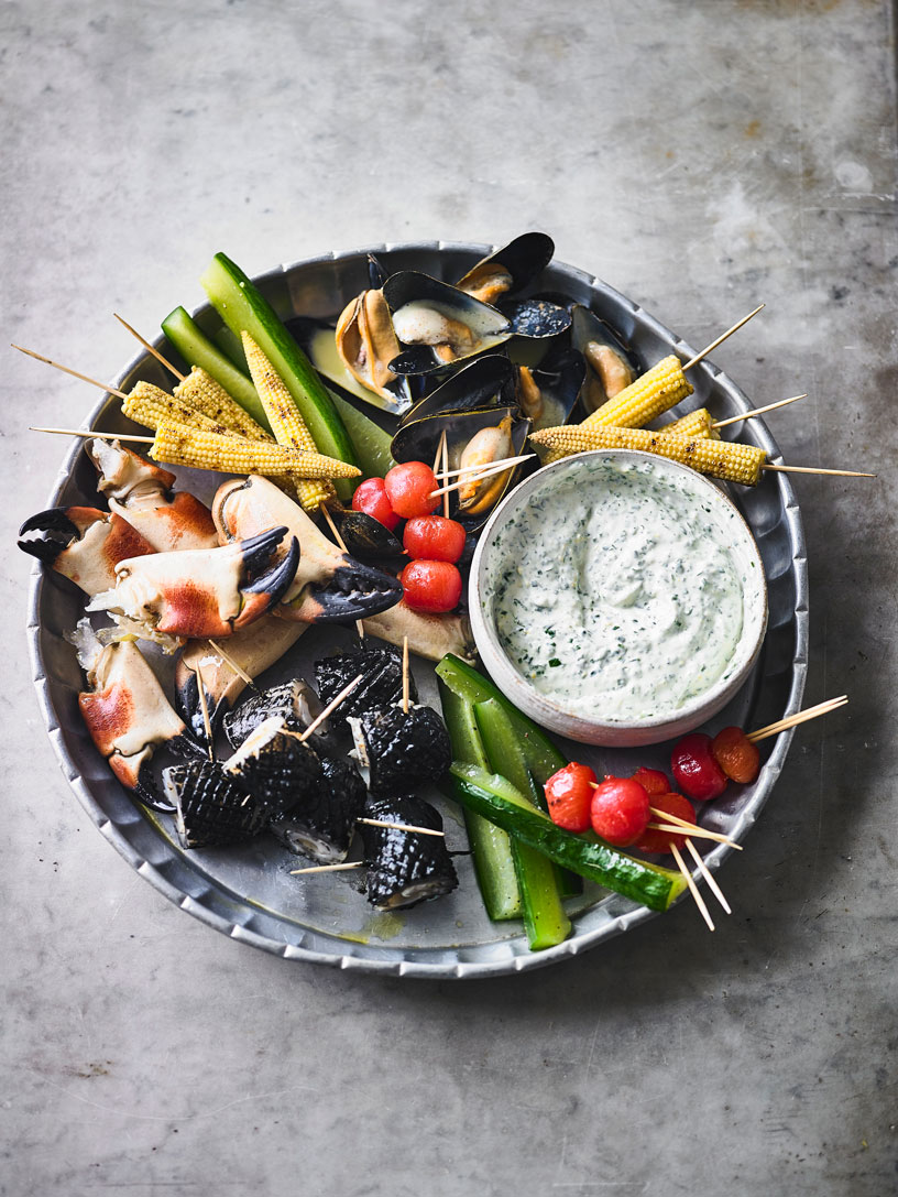 GRILLED MIX SEAFOOD PLATTER