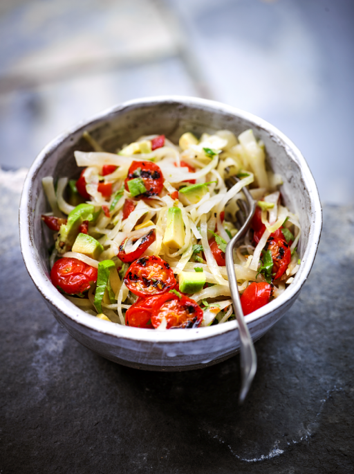 CHAR GRILLED TOMATO AND AVOCADO SLAW