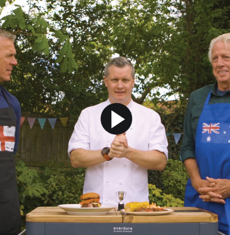 THE SUN: STEAKS ARE HIGH Alec Stewart and Jeff Thomson reignite fiery rivalry with BBQ grill-off ahead of the Ashes
